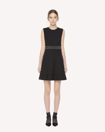 REDValentino Microstuds detail Cady Tech dress
