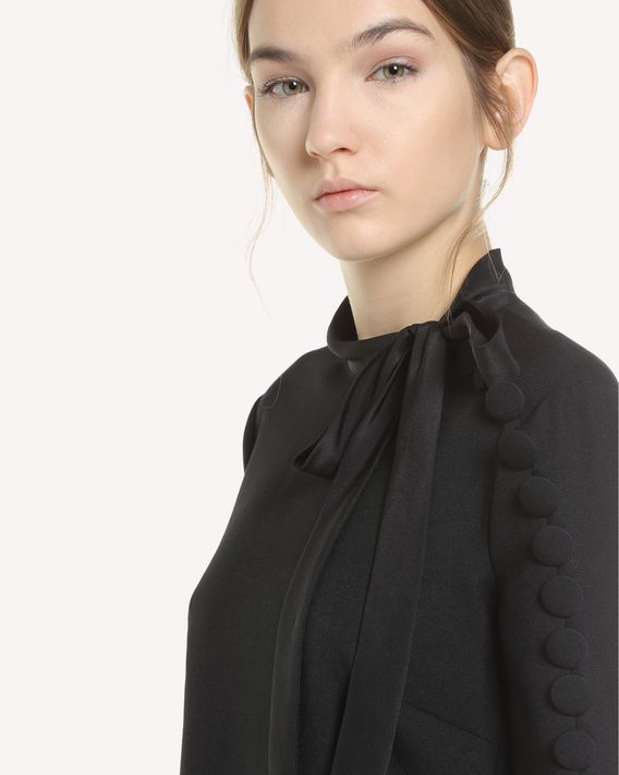 REDValentino Fitted Cady Tech dress with button detail
