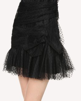 REDValentino フロック ポルカドットチュール ドレス
