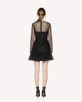 REDValentino Flock Polka dot Tulle dress