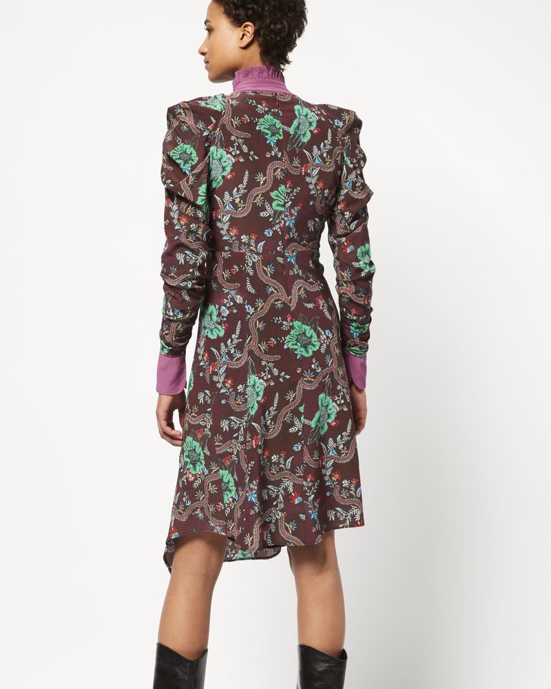 CARLEY printed silk dress ISABEL MARANT