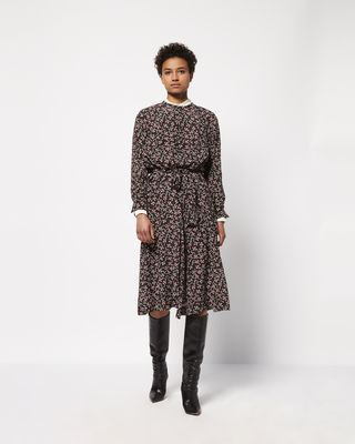 LYMPIA mid-length printed dress