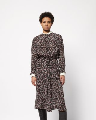 ISABEL MARANT LONG DRESS Woman LYMPIA mid-length printed dress r