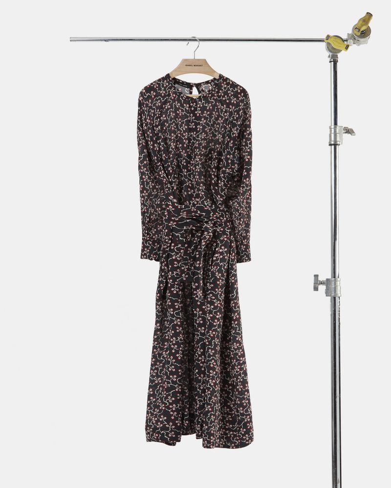 LYMPIA mid-length printed dress ISABEL MARANT