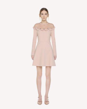 REDValentino ポワンデスプリ チュール ディテール ジャージー ドレス