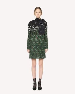 REDValentino Garden of Metamorphosis 印纹真丝连衣裙