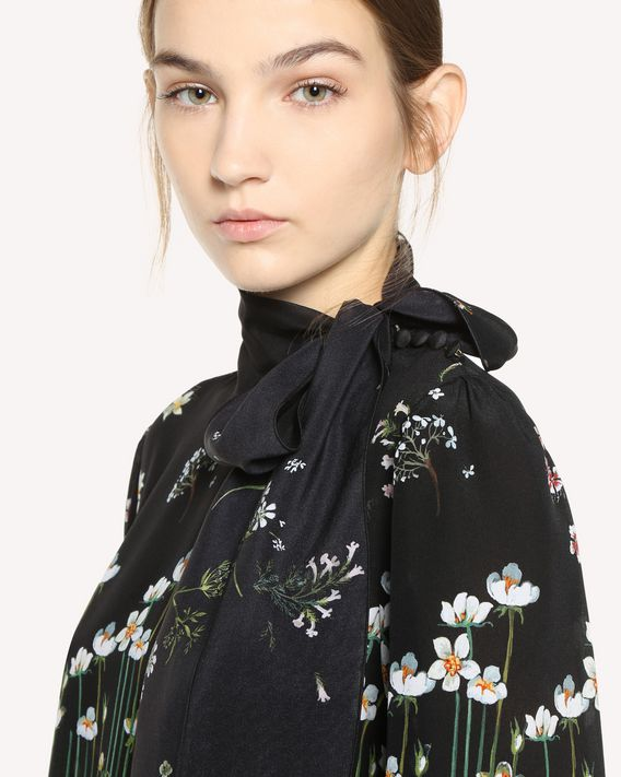 REDValentino Garden of Metamorphosis printed Silk dress
