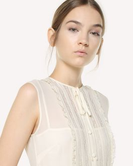 REDValentino Tulle dress with georgette scallop ribbons