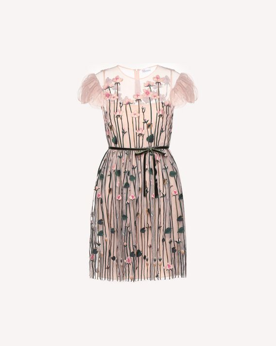 REDValentino Garden of Metamorphosis embroidered Tulle dress