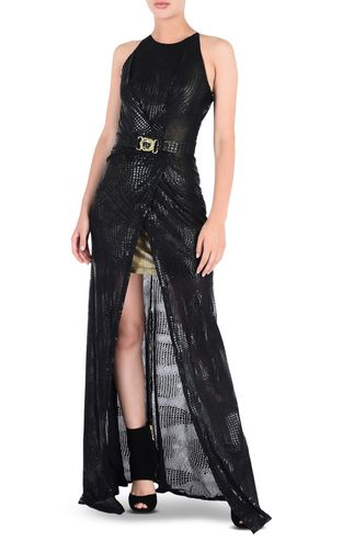 JUST CAVALLI Long dress [*** pickupInStoreShipping_info ***] Eye Of The Peacock maxi dress r
