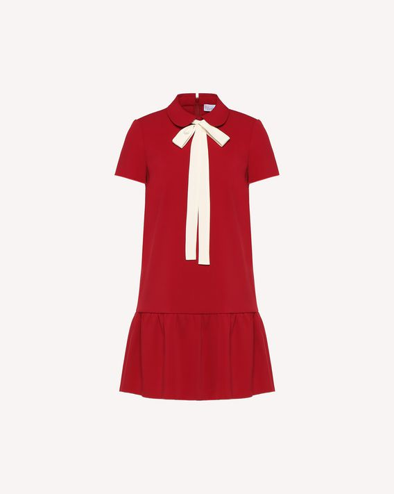 REDValentino Stretch frisottino dress with bow