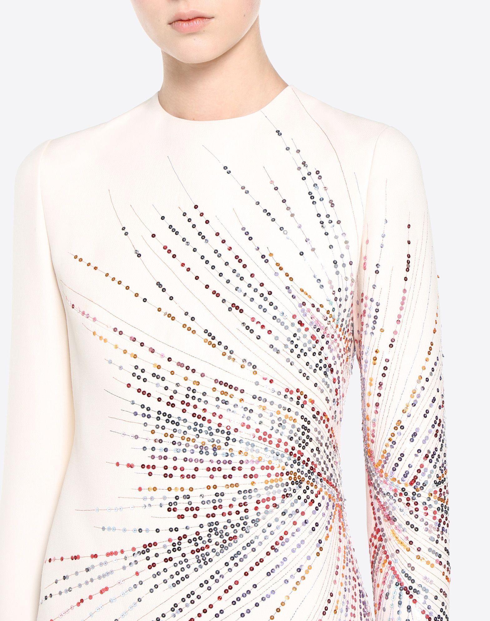 VALENTINO Fireworks Embroidered Dress Dress D a