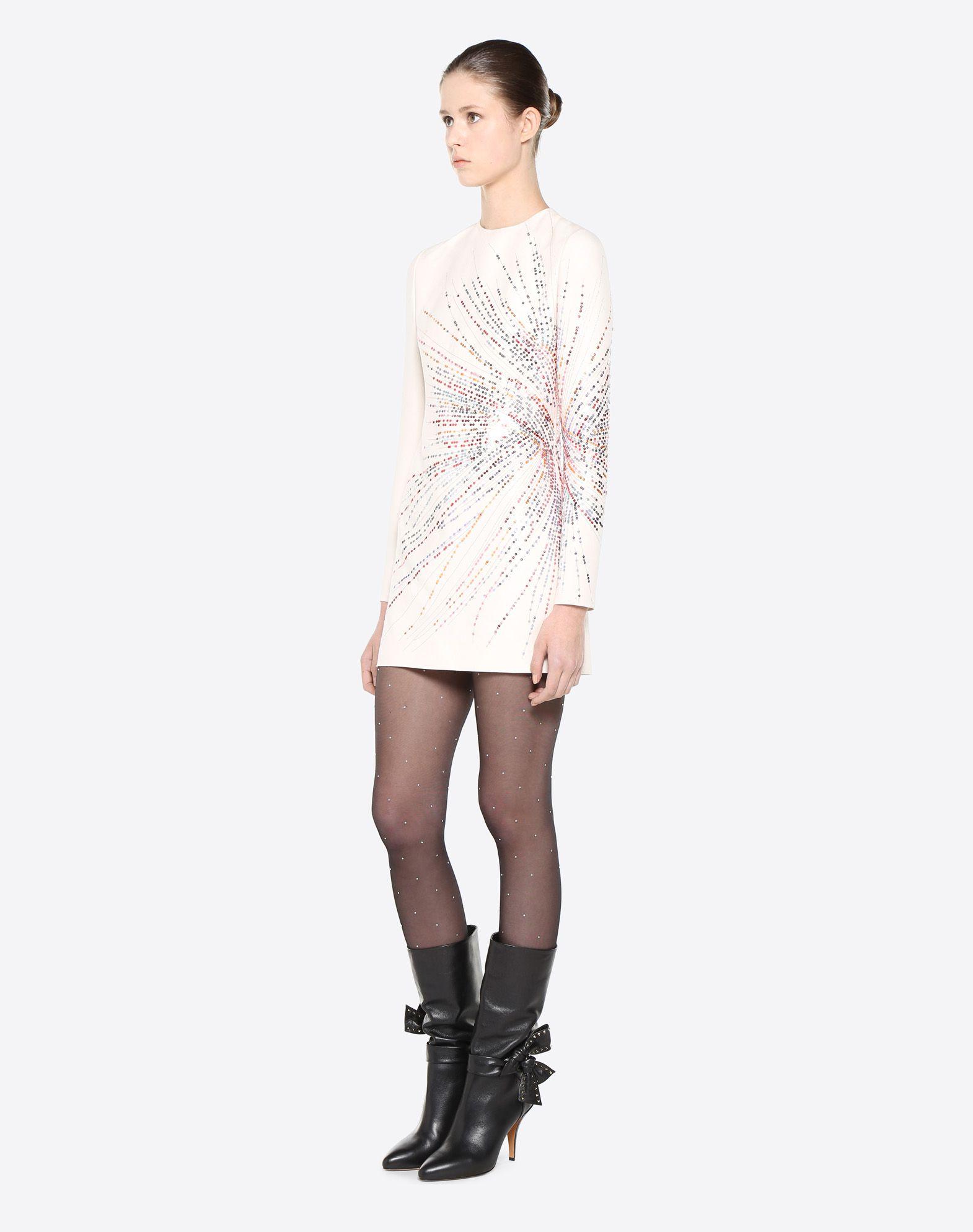VALENTINO Fireworks Embroidered Dress Dress D d