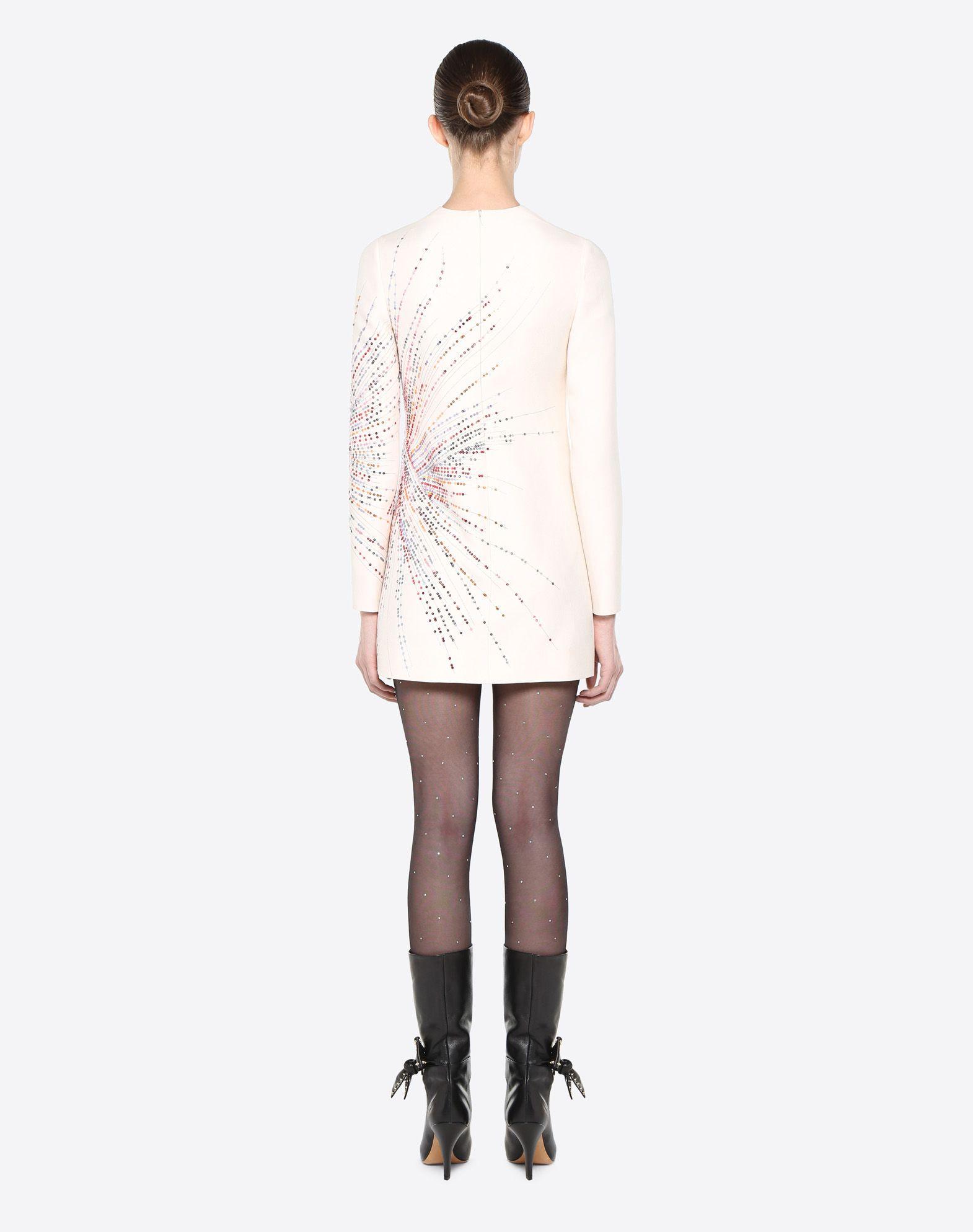 VALENTINO Fireworks Embroidered Dress Dress D e