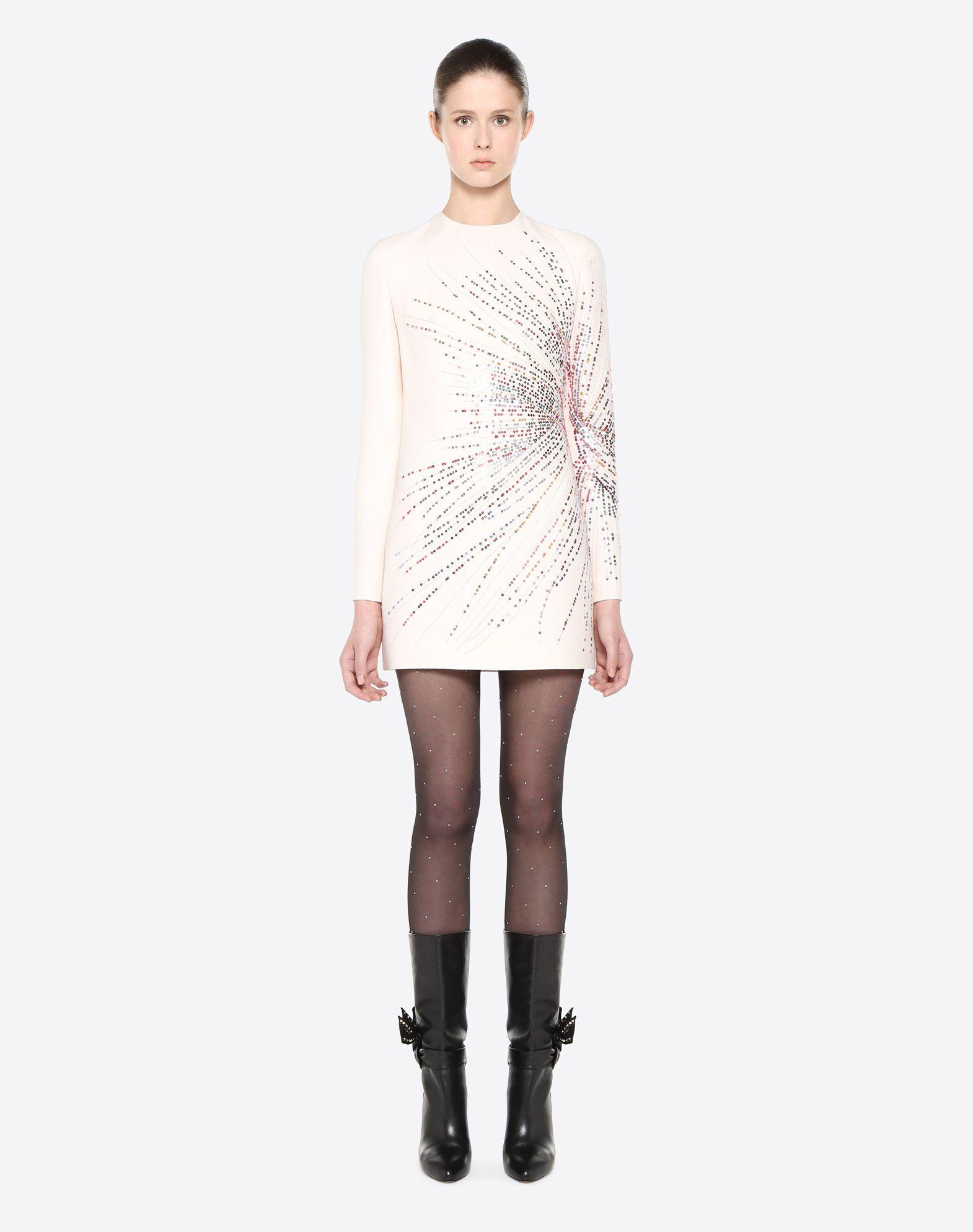 VALENTINO Fireworks Embroidered Dress Dress D r