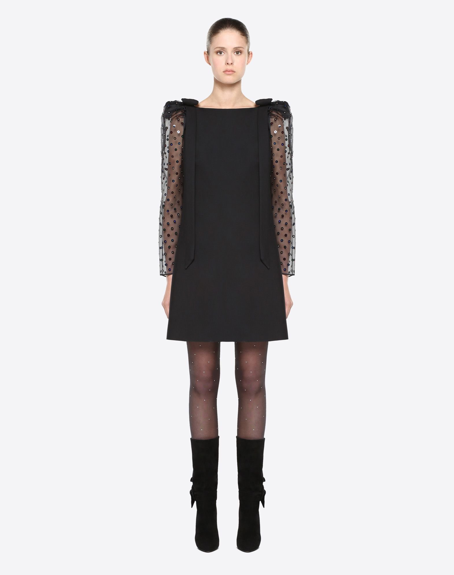 VALENTINO Embroidered Dress Dress D r