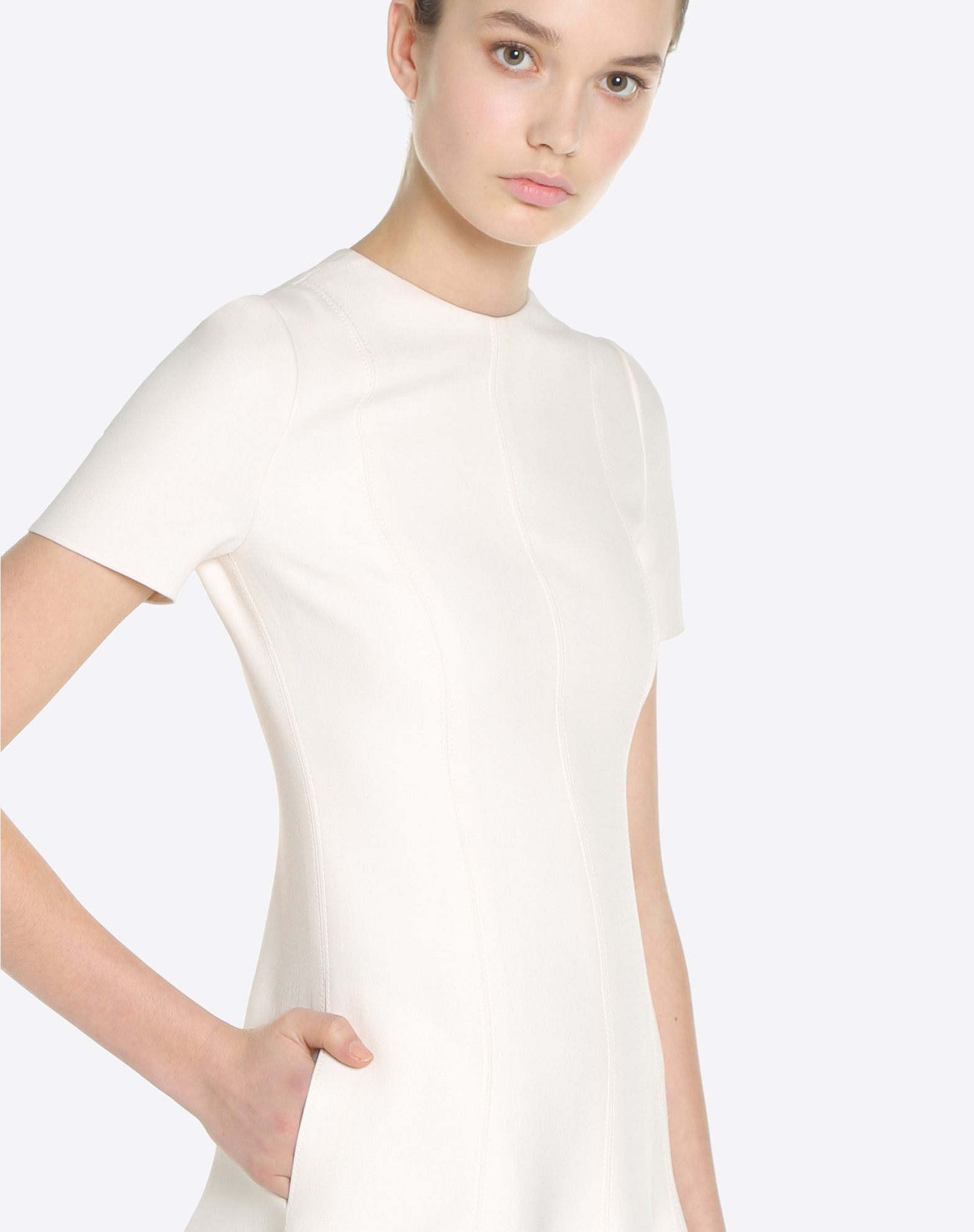 VALENTINO Couture 绉绸连衣裙 连衣裙 D a