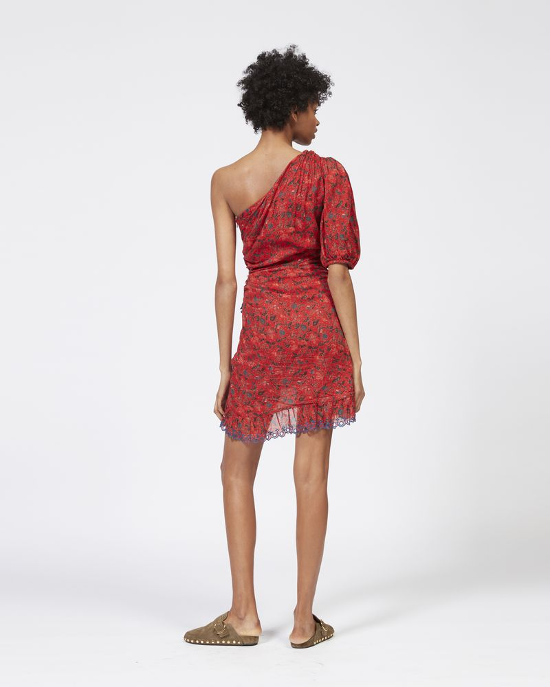 ESTHER asymmetric dress in printed cotton ISABEL MARANT ÉTOILE