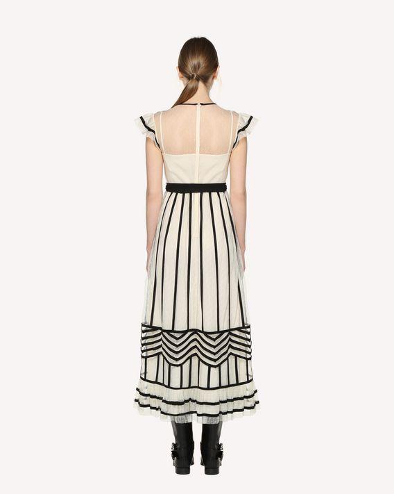 REDValentino Tubular embroidered tulle dress