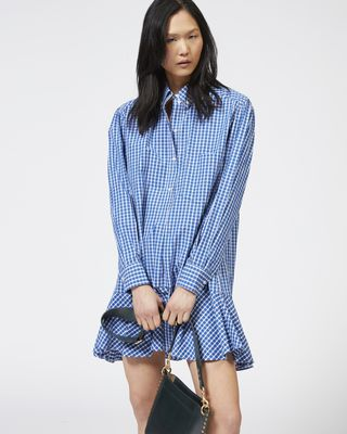 ISABEL MARANT ÉTOILE SHORT DRESS Woman ONDRIA checked dress r