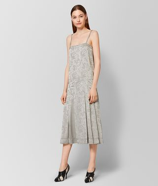 CEMENT SILK JACQUARD DRESS