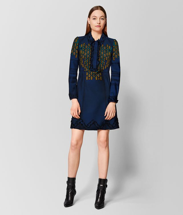 BOTTEGA VENETA MULTICOLOR WOOL DRESS Dress Woman fp