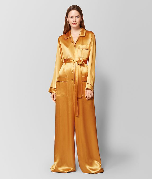 BOTTEGA VENETA MARIGOLD/FAWN SATIN JUMPSUIT Dress Woman fp