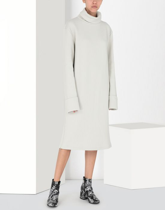MM6 MAISON MARGIELA Ribbed jersey dress 3/4 length dress [*** pickupInStoreShipping_info ***] f