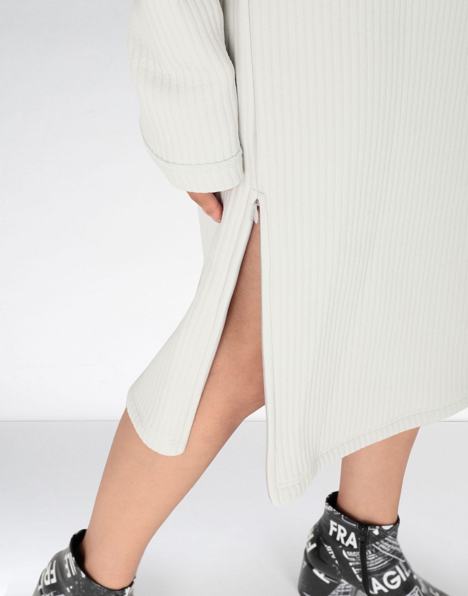 MM6 MAISON MARGIELA Ribbed jersey dress 3/4 length dress Woman a