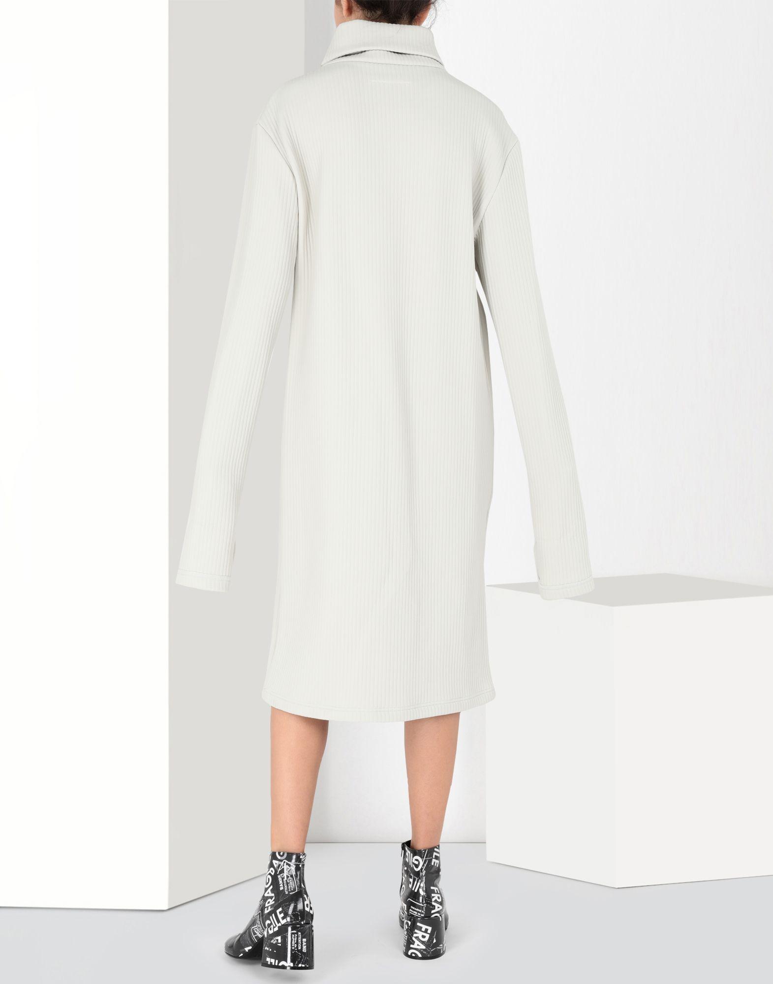 MM6 MAISON MARGIELA Ribbed jersey dress 3/4 length dress Woman d