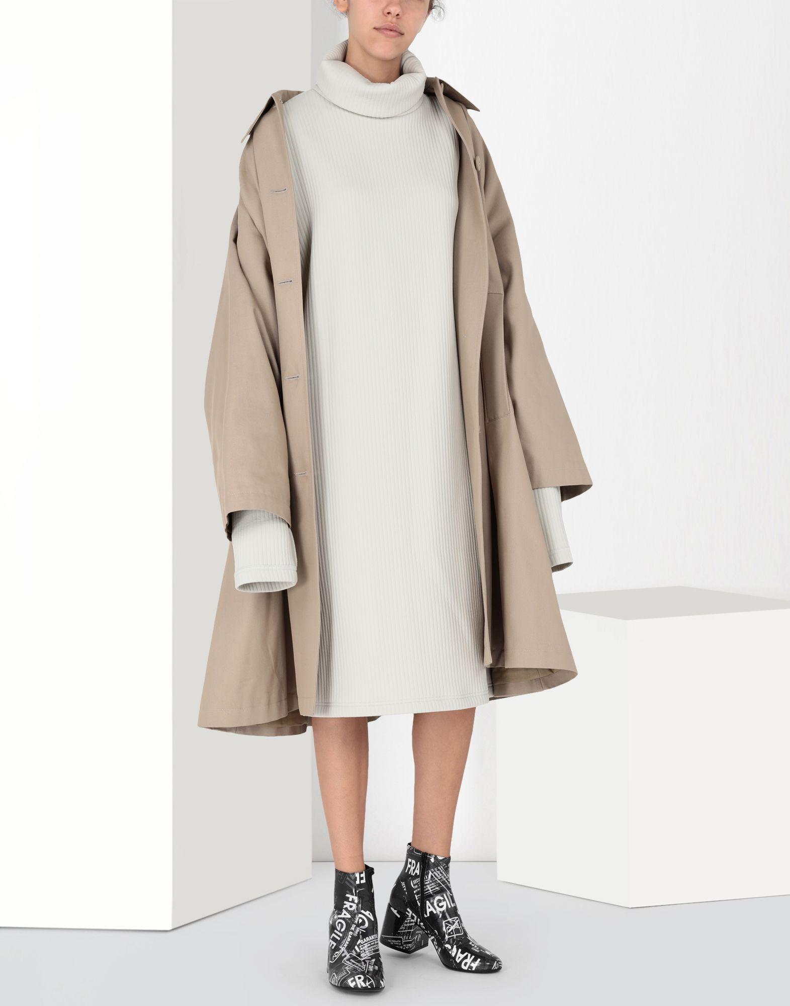 MM6 MAISON MARGIELA Ribbed jersey dress 3/4 length dress Woman r