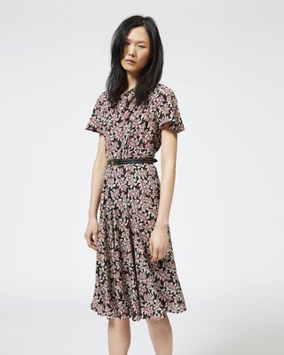 ISABEL MARANT ÉTOILE LONG DRESS Woman LEXIA printed crepe dress  r