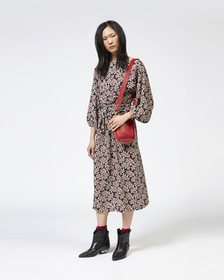 LEXIA printed crepe dress