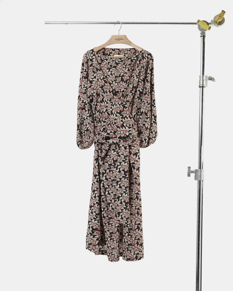 LEXIA printed crepe dress ISABEL MARANT ÉTOILE