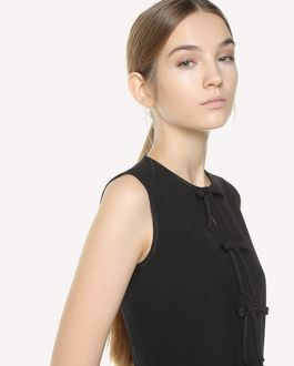 REDValentino Bow detail Cady tech dress