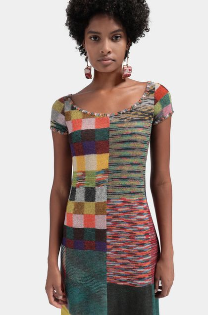 MISSONI Long dress Brick red Woman - Front