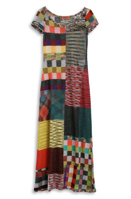 MISSONI Long dress Brick red Woman - Back