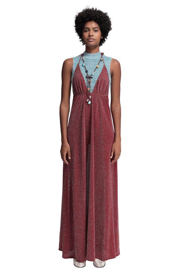 MISSONI Long dress Red Woman