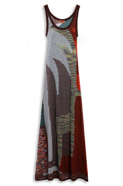 MISSONI Long dress Cocoa Woman - Front