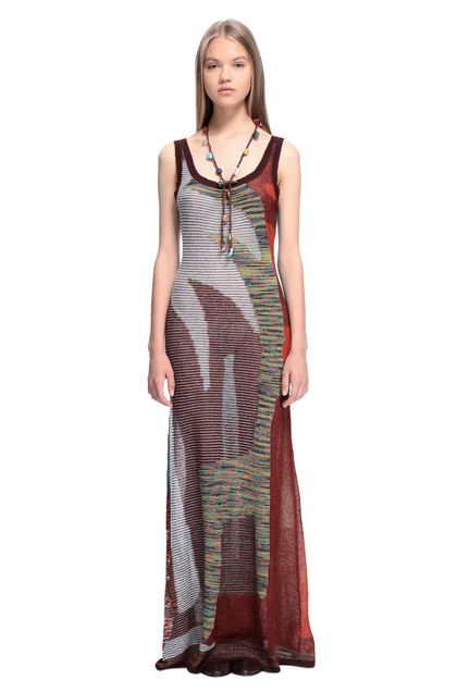 MISSONI Long dress Cocoa Woman - Back