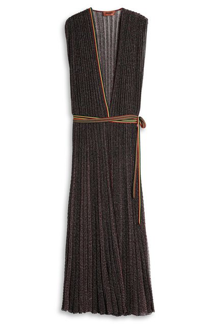 MISSONI Long dress Maroon Woman - Front