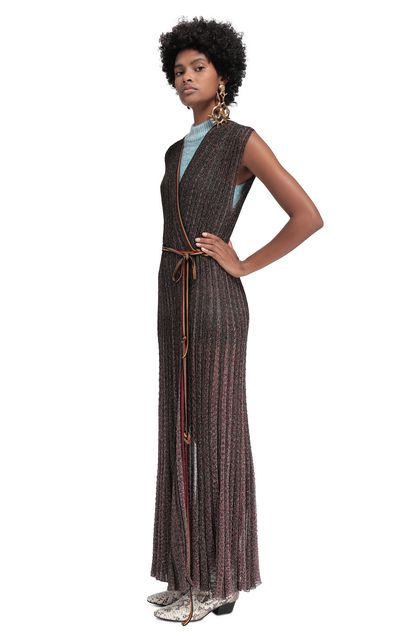 MISSONI Long dress Maroon Woman - Back