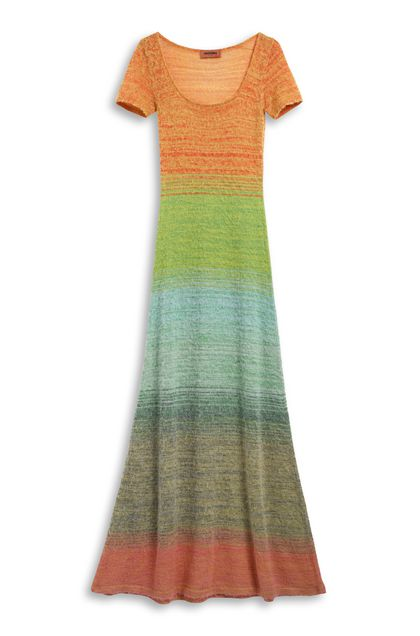 MISSONI Long dress Peach Woman - Front
