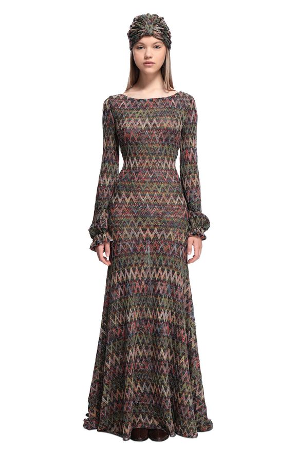 MISSONI Long dress Woman, Frontal view