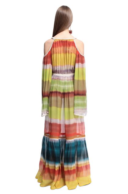 MISSONI Long dress Acid green Woman - Front