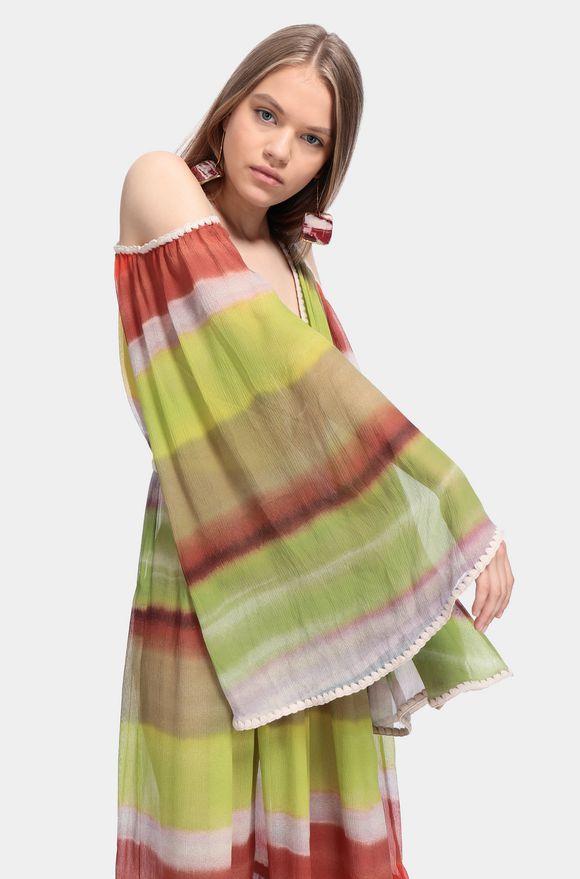 MISSONI Long dress Acid green Woman