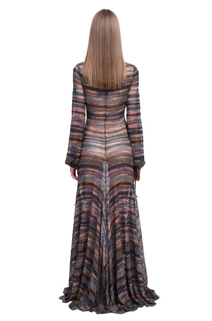 MISSONI Long dress Purple Woman - Front
