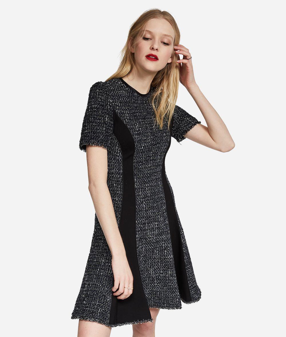 KARL LAGERFELD Lurex Bouclé Flared Dress Dress Woman f