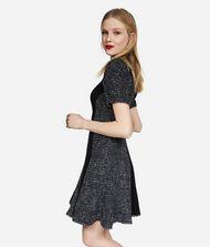 KARL LAGERFELD  Lurex Bouclé Flared Dress 9_f