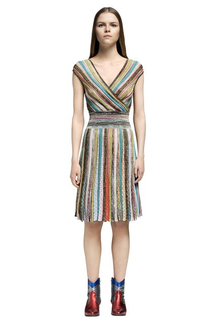 MISSONI Dress Turquoise Woman - Back